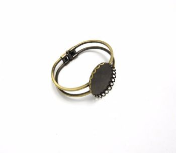 Bronze bangle blank setting 30 x 40 mm oval pack of 3, 5 or 10