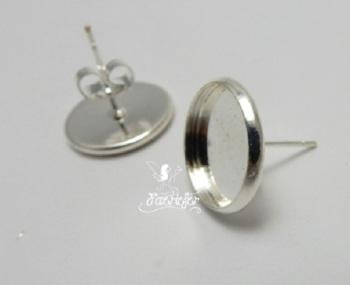 Earring cabochon stud blank settings 12 mm
