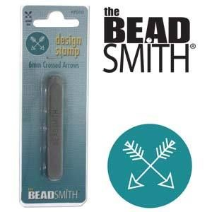 Beadsmith Metal Design Stamp - Crossed Arrows 6 mm