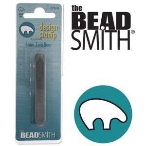 Beadsmith Metal Design Stamp - Zuni Bear 6 mm
