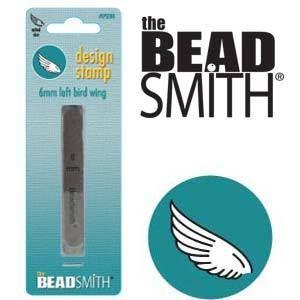 Beadsmith Metal Design Stamp - Bird Wing Left 6 mm
