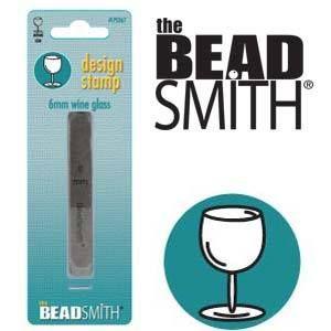 Beadsmith Metal Design Stamp - Wine Glass 6 mm