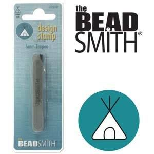 Beadsmith Metal Design Stamp - Teepee 6 mm