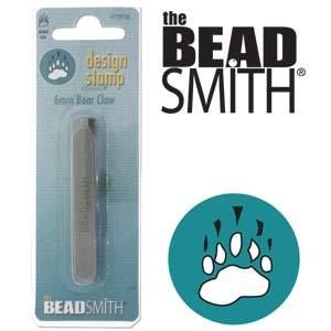 Beadsmith Metal Design Stamp - Bear Claw 6 mm