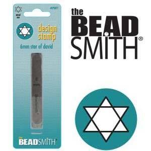 Beadsmith Metal Design Stamp - Star of David 6 mm