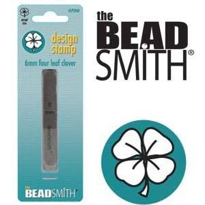 Beadsmith Metal Design Stamp - Lucky Four Leaf Clover 6 mm