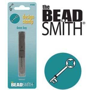 Beadsmith Metal Design Stamp -  Key 6 mm