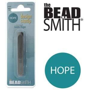 Beadsmith Metal Design Stamp - HOPE 5.5x2.2mm