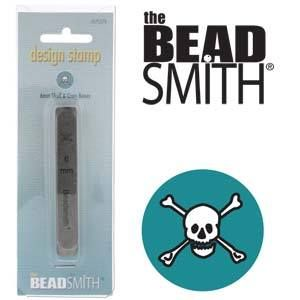 Beadsmith Metal Design Stamp - Skull & Cross Bones 6 mm