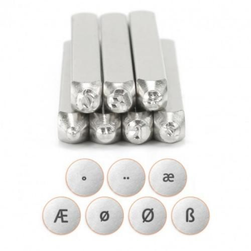ImpressArt Euro Vowels Collection 7pc set 6 mm