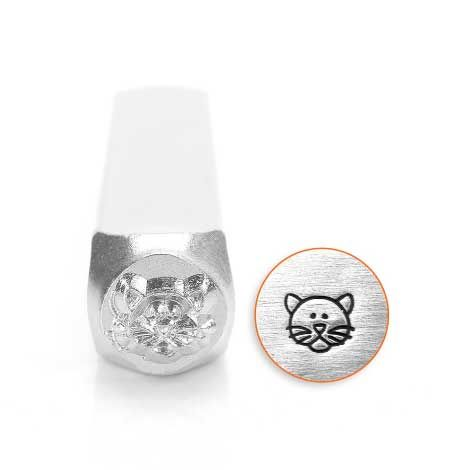 ImpressArt Cat Face 6mm Metal Stamping Design Punch