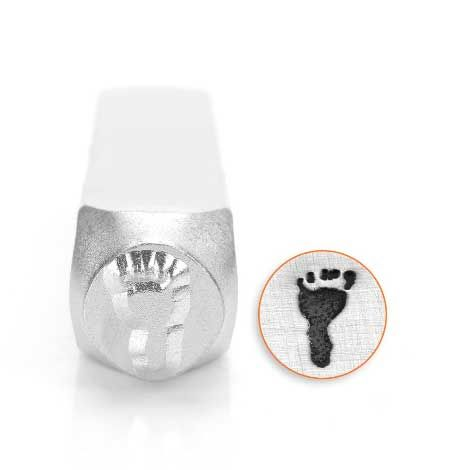ImpressArt Foot Print Left 9.5mm Metal Stamping Design Punch