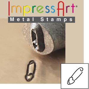 ImpressArt Safety Pin 6mm Metal Stamping Design Punch