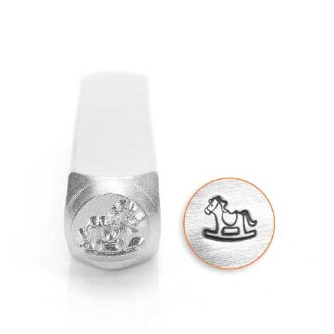 ImpressArt Rocking Horse 6mm Metal Stamping Design Punch