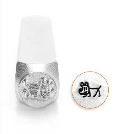 ImpressArt Stick Family Dog 6mm Metal Stamping Design Punch