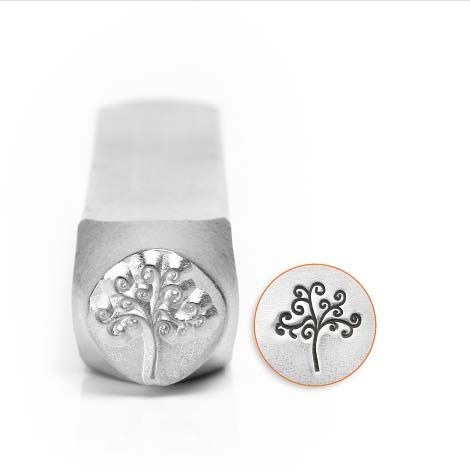 ImpressArt Tree of Life Small 6mm Metal Stamping Design Punch