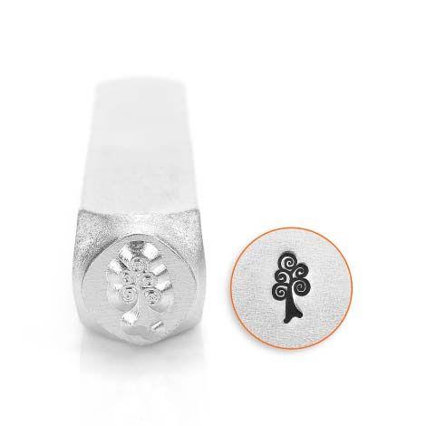 ImpressArt Swirl Tree 6mm Metal Stamping Design Punch