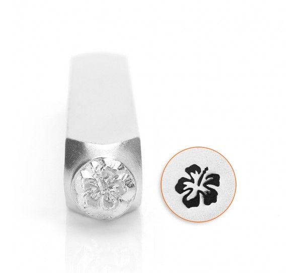 ImpressArt Hibiscus 6mm Metal Stamping Design Punch