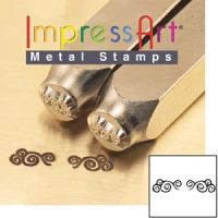 ImpressArt Flourish N Pair of Ends 6mm Metal Stamping Design Punches