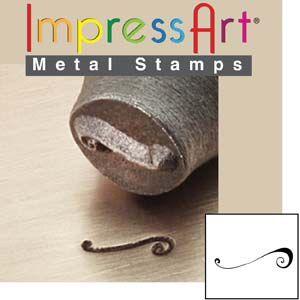 ImpressArt Flourish F 6mm Metal Stamping Design Punch
