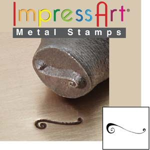 ImpressArt Corner Flourish E 6mm Metal Stamping Design Punch
