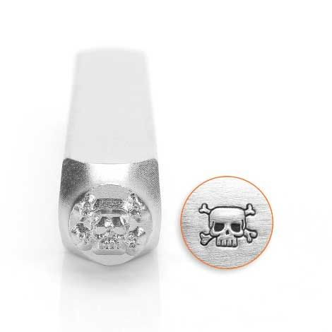 ImpressArt Skull & Crossbones 6mm Metal Stamping Design Punch