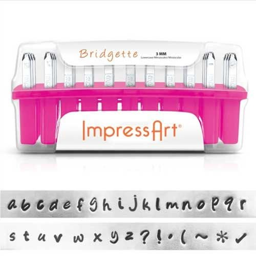 ImpressArt Standard Bridgette 3mm Alphabet lower Case Letter Metal Stamp Se