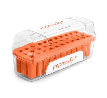 ImpressArt Storage Box Case for 4mm Alphabet Letter Sets - Orange