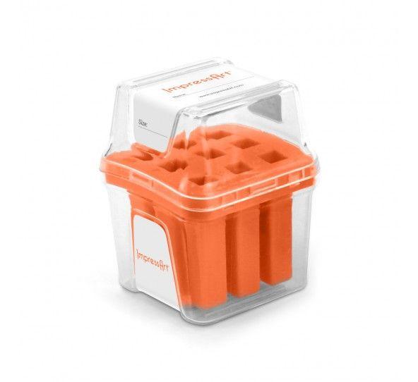 ImpressArt Storage Box Case for 6mm Number Sets - Orange