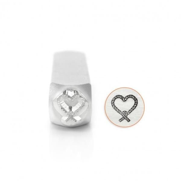 ImpressArt Love Knotted Rope Heart 9.5mm Metal Stamping Design Punch