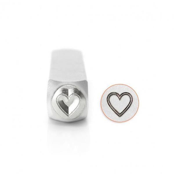 ImpressArt Outlined Heart 6mm Metal Stamping Design Punch
