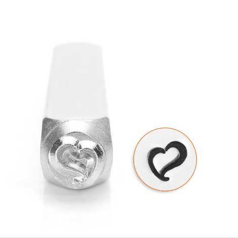ImpressArt Swirly Heart 6mm Metal Stamping Design Punch