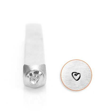 ImpressArt Fat Heart 3mm Metal Stamping Design Punch