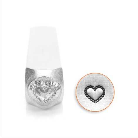 ImpressArt Lace Heart 6mm Metal Stamping Design Punch