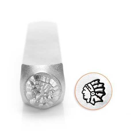 ImpressArt Indian Head 6mm Metal Stamping Design Punch