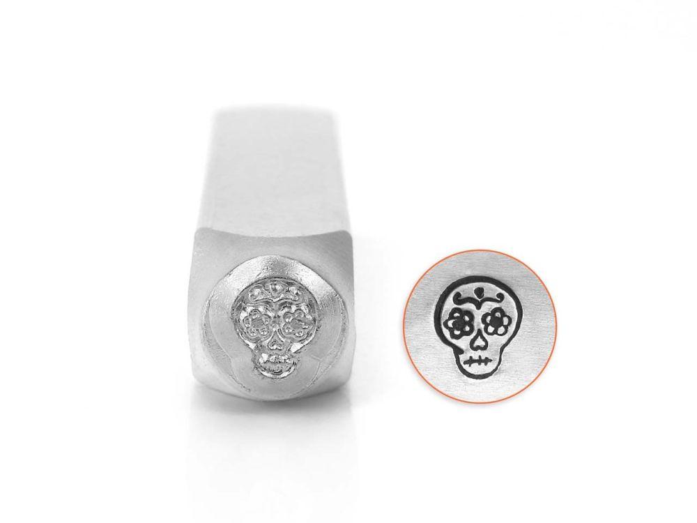 ImpressArt Sugar Skull 6mm Metal Stamping Design Punch