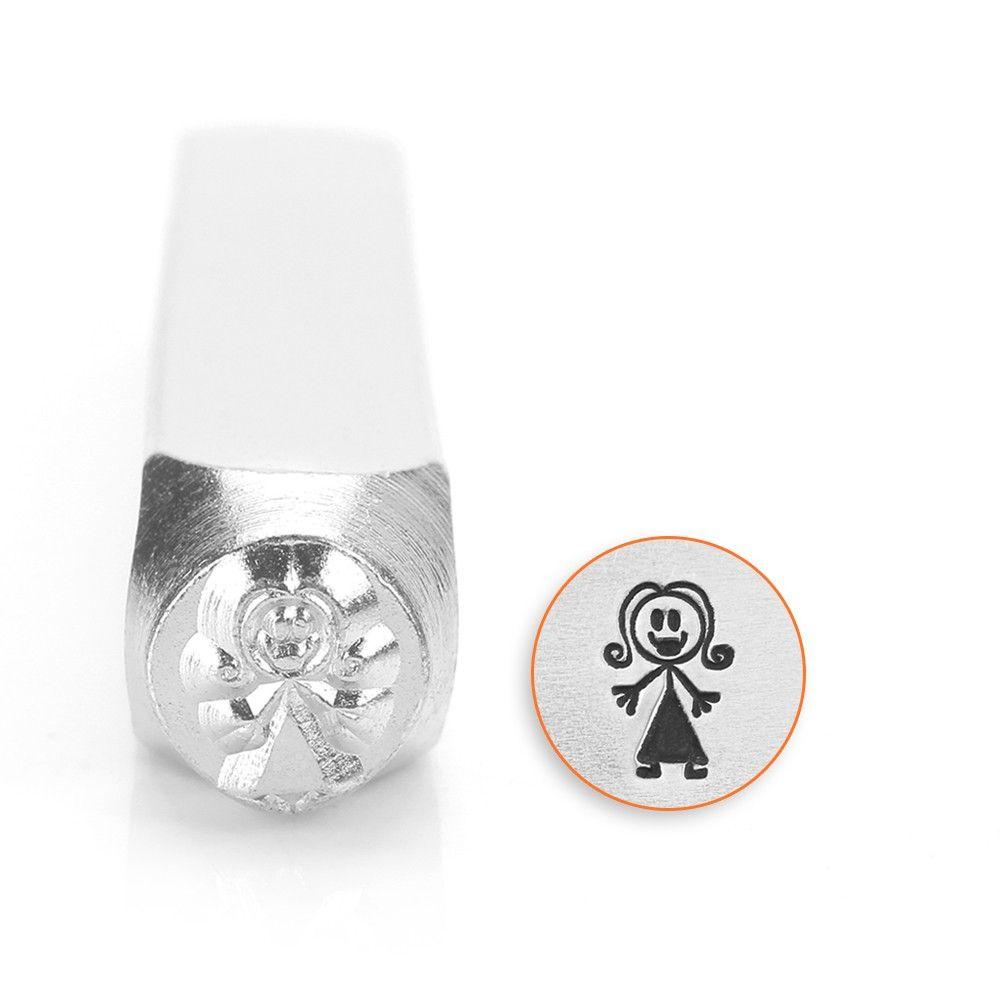 ImpressArt Stick Family Mama 7mm Metal Stamping Design Punch