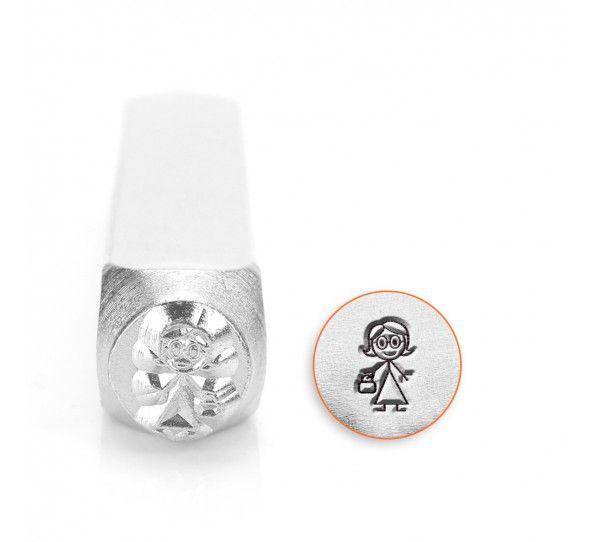 ImpressArt Stick Family Nana 6mm Metal Stamping Design Punch