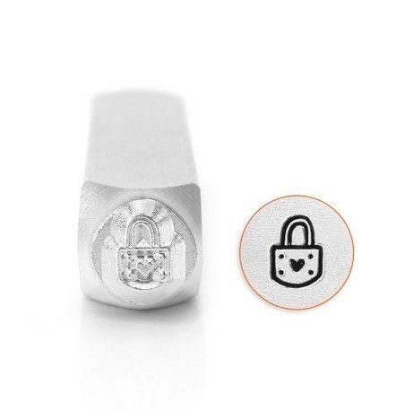 ImpressArt Padlock Heart 6mm Metal Stamping Design Punch