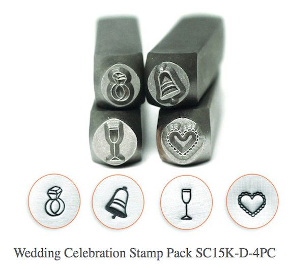 ImpressArt Wedding Celebration Collection 6mm (4pc Bell, Ring, Champagne Gl