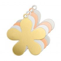 ALUMINIUM SOFT STRIKE BLANK - FLOWER TAG 24X27MM - 20 GAUGE - PACK OF 5