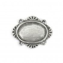 OVAL PEWTER STAMPING BLANK - 1 3/16