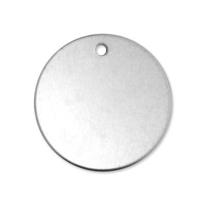 Alkeme blank - round circle with hole Size: 30.5mm - 1 1/4 inch pack of 1 1