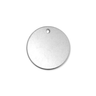 Alkeme blank - round circle with hole Size: 20.2mm - 3/4 inch pack of 1 18
