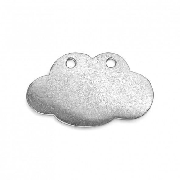 PEWTER SOFT STRIKE BLANK - CLOUD WITH HOLES 1 1/4