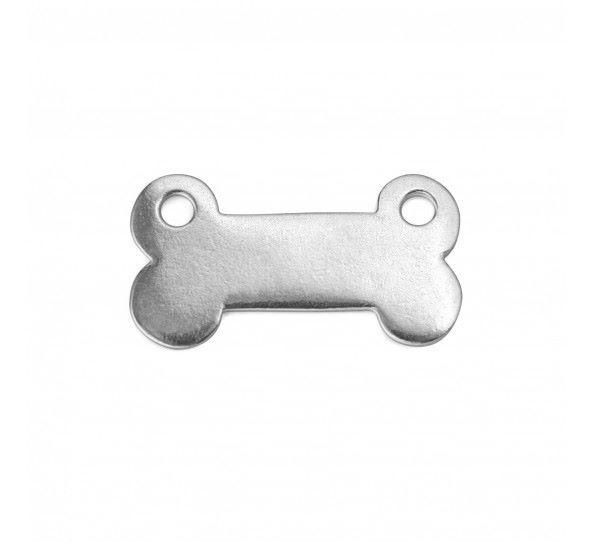 PEWTER SOFT STRIKE BLANK - Dog Bone Connector w/ Holes, 30x16mm - 1 1/8 X 1