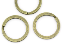 "Key ring Round Antique Bronze 25mm(1"") pack of 5"