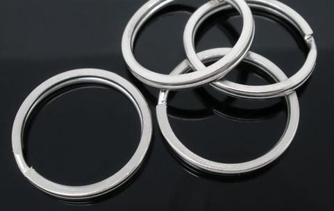Key ring Round Silver Tone 25mm(1