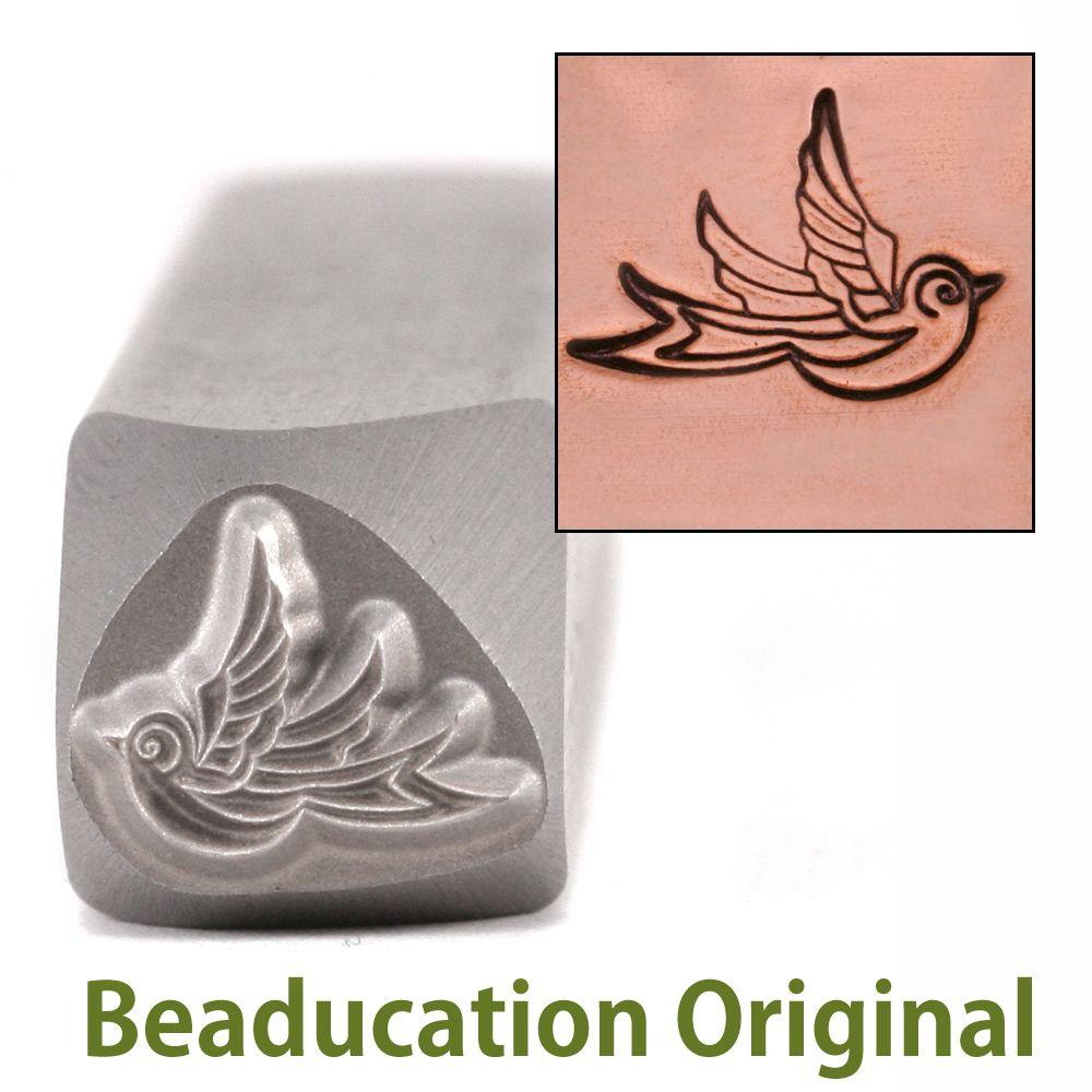 335 Adult Swallow right facing Beaducation Original Design Stamp