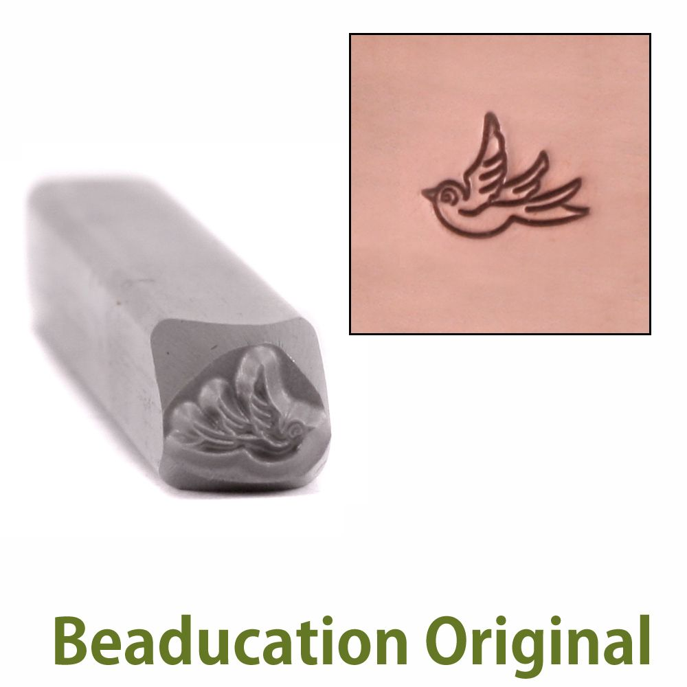 397 Baby Swallow left facing Beaducation Original Design Stamp
